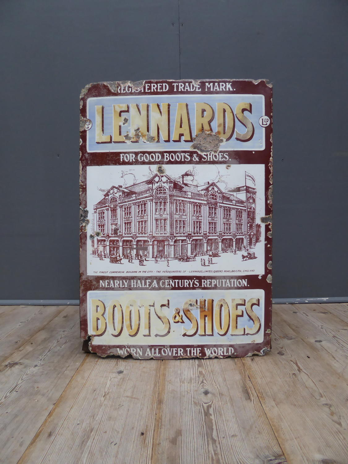 Lennards Pictorial Enamel Sign