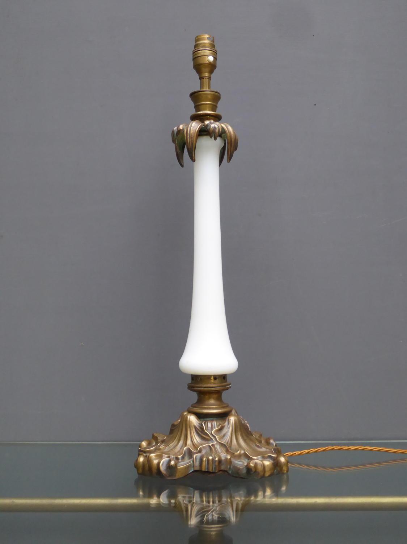 Opaline Column Lamp