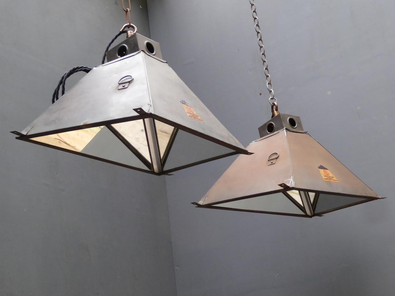 Mirrored Factory Pendant Lights