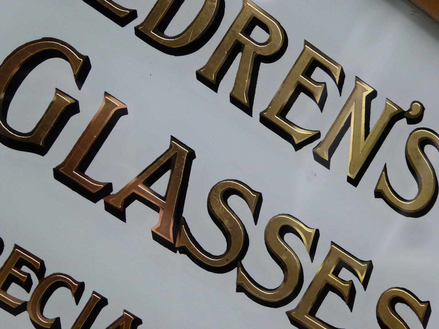 Children's Glasses ~ Gilt Glass Opticians Sign