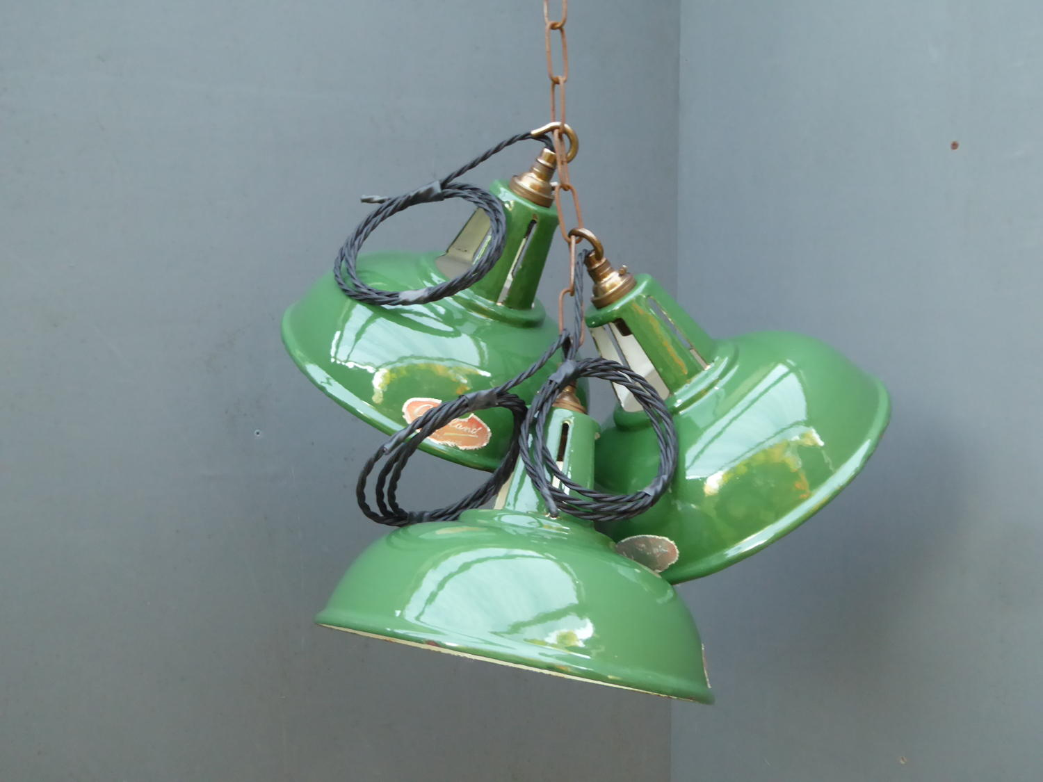 Crossland Enamel Pendant Lights