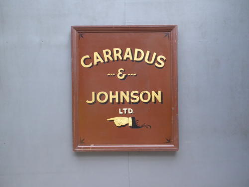 Large Painted Wooden Trade Sign