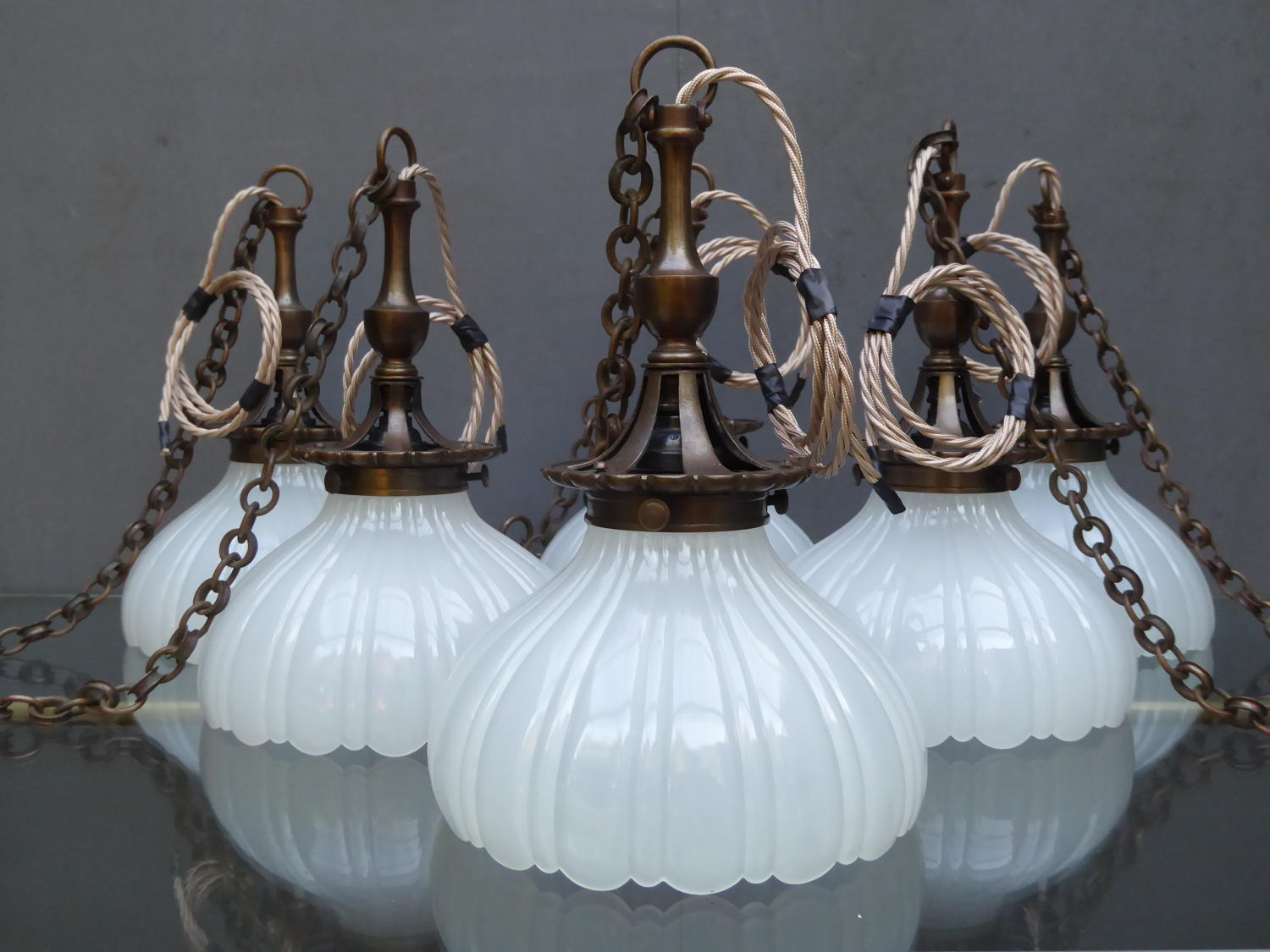 Jefferson Moonstone Pendant Lights