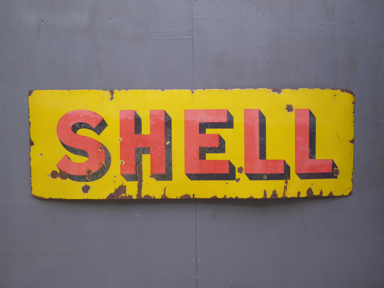 Shell Motor Spirit Enamel Sign