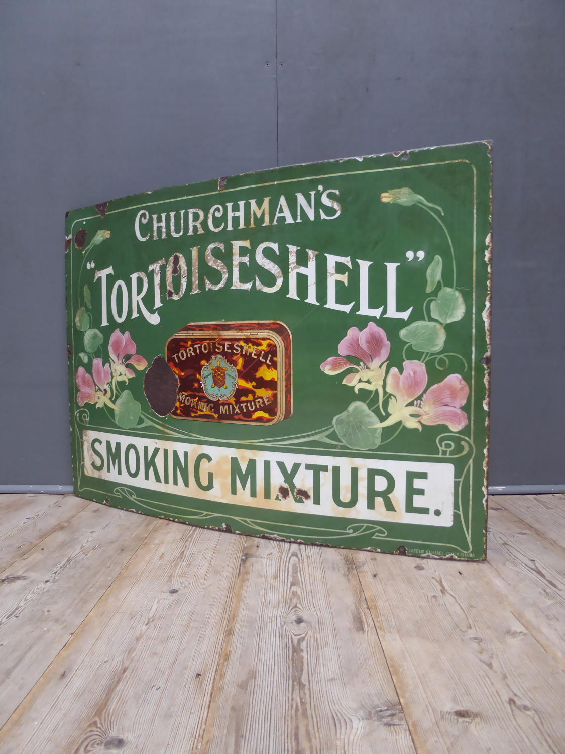 Churchmans Tortoiseshell Enamel Sign
