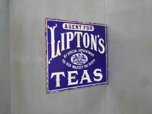Liptons Teas Enamel Sign