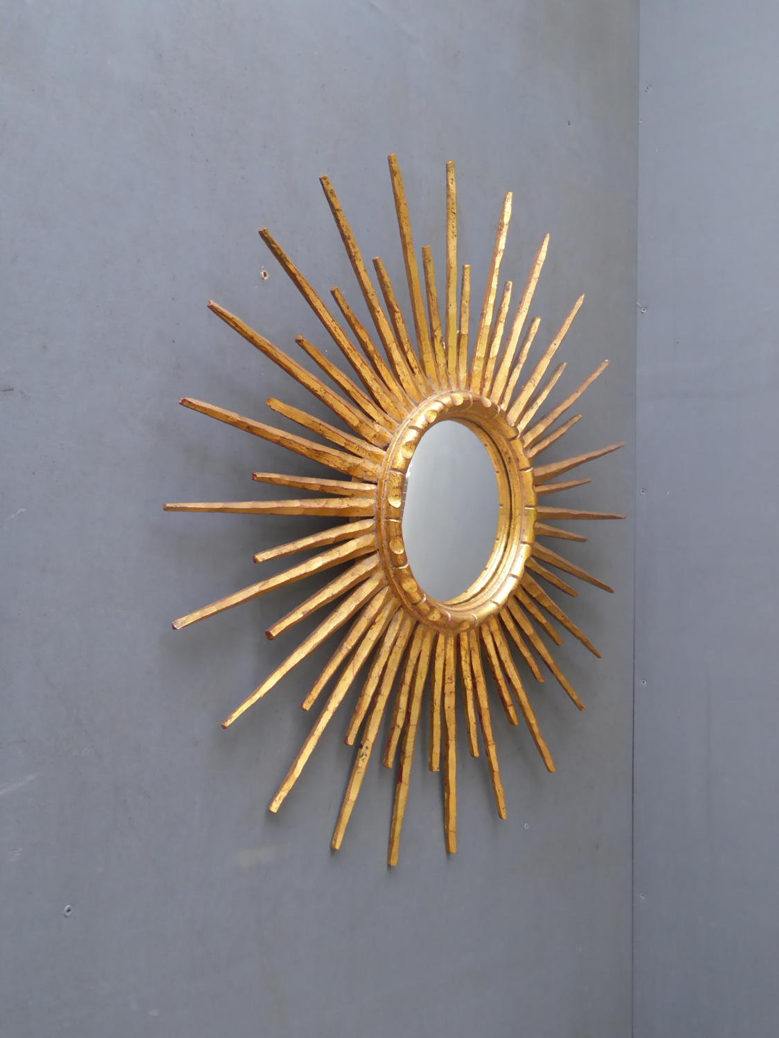 Gilt Wood Sunburst Mirror
