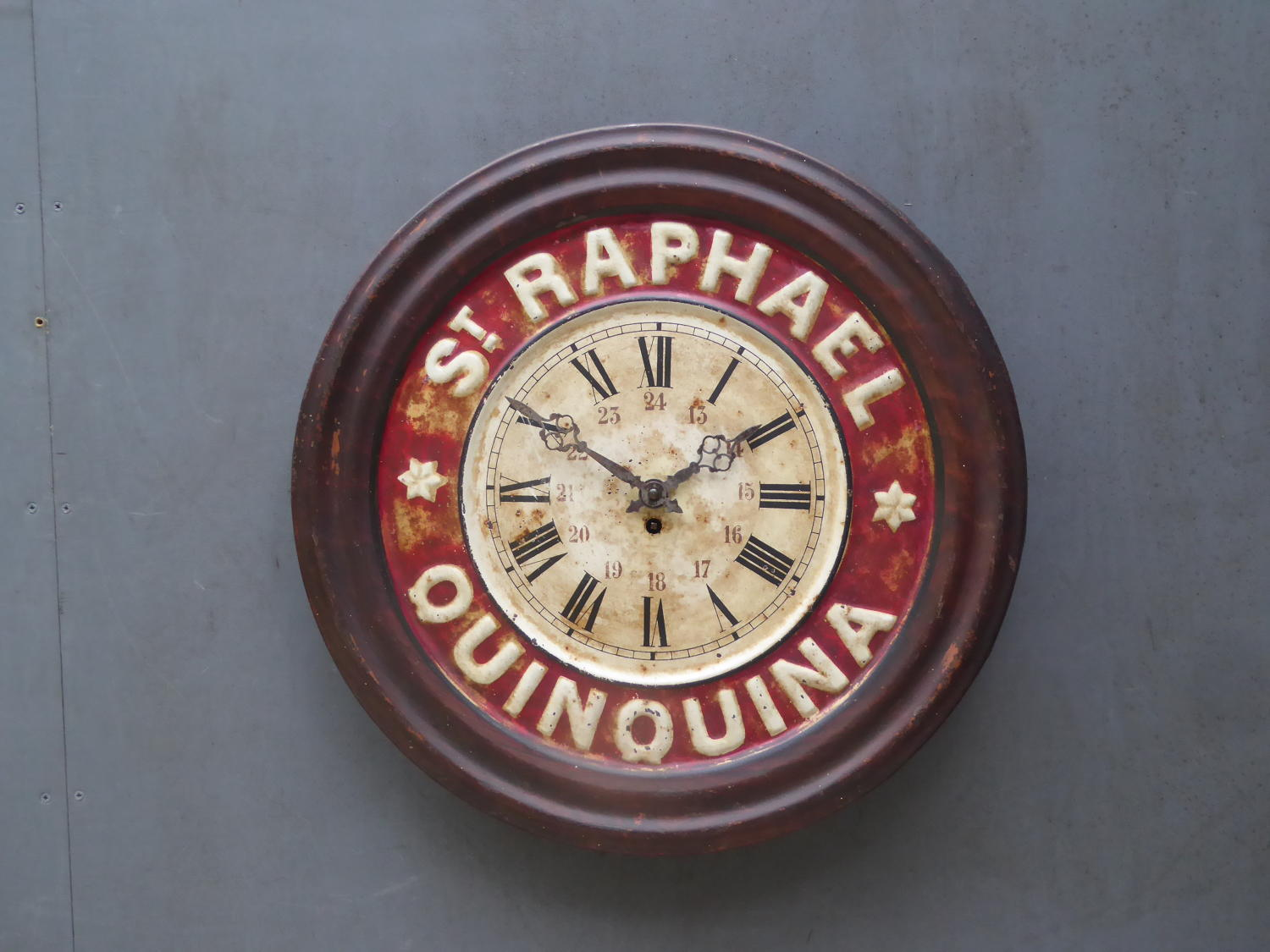 St Raphael Quinquina Advertising Clock