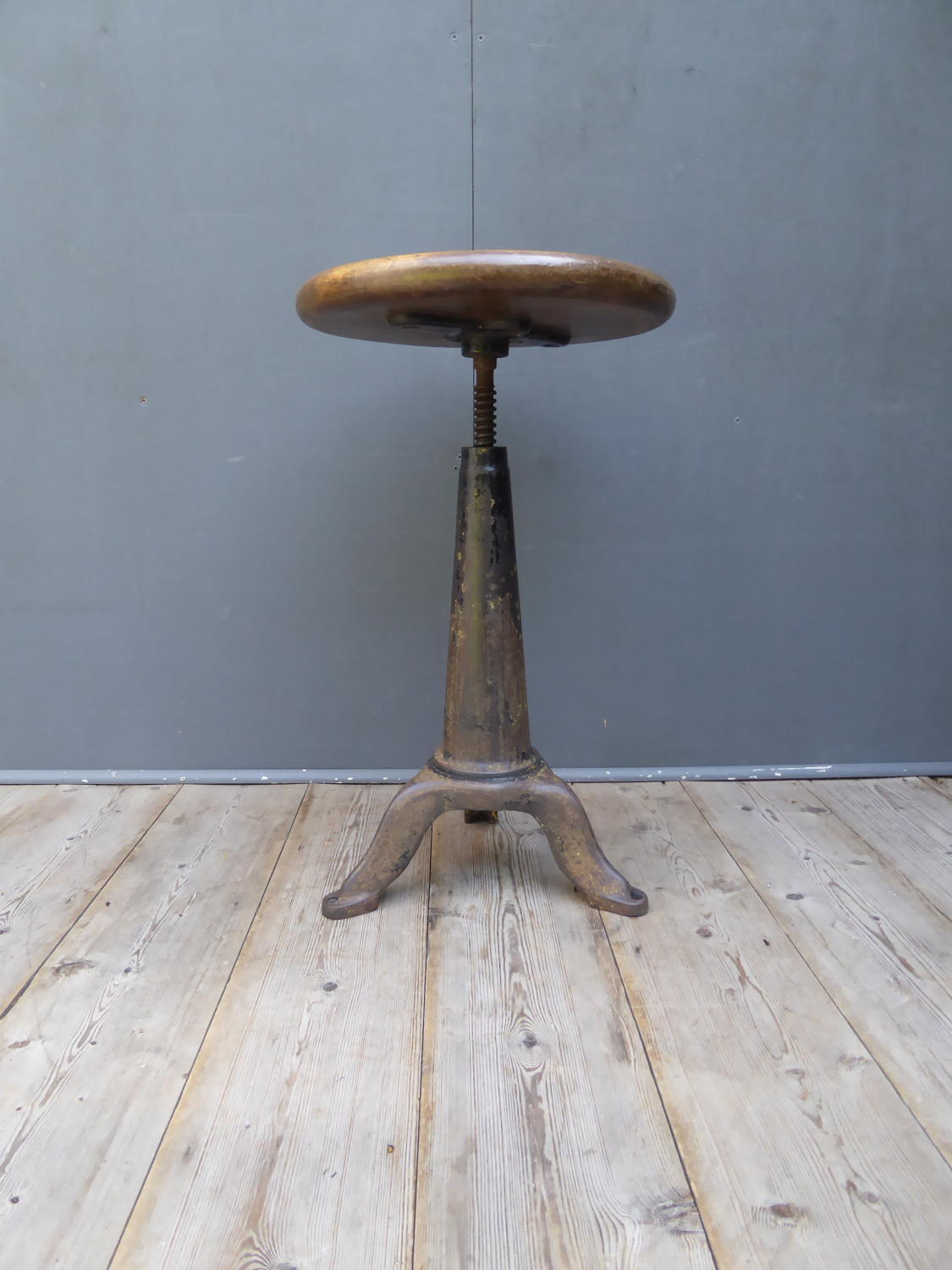 Cast Iron Industrial Stool