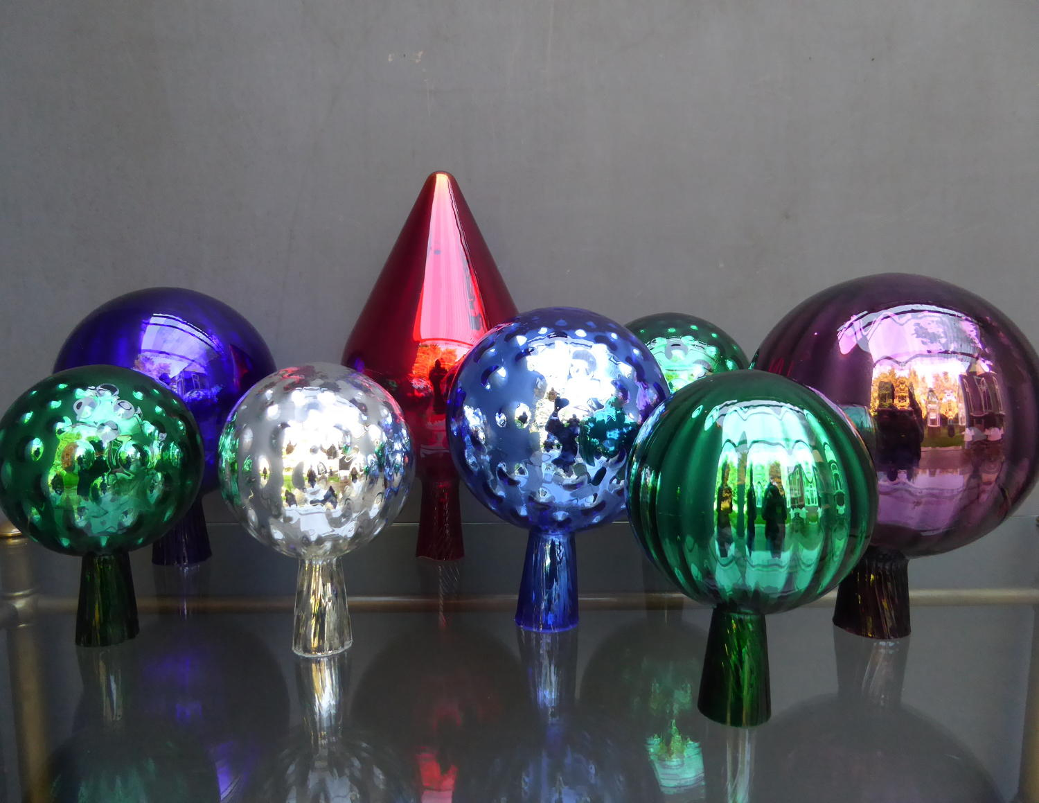 Collection Of Mercury Glass Balls