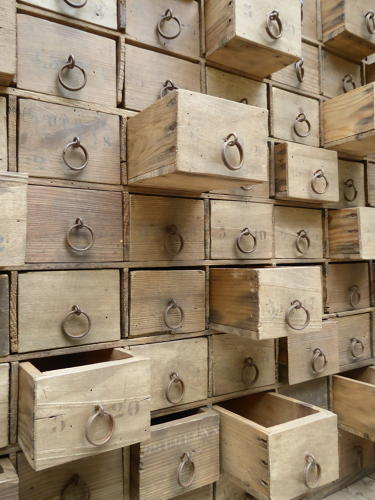 Bank Of Hardware Store Drawers