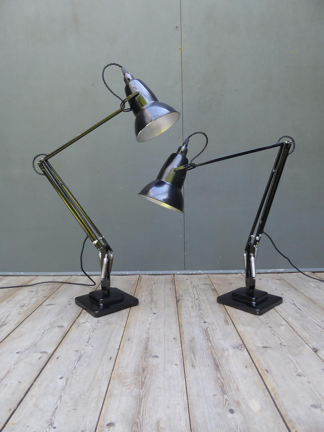 Pair Of Herbert Terry Anglepoise Lamps