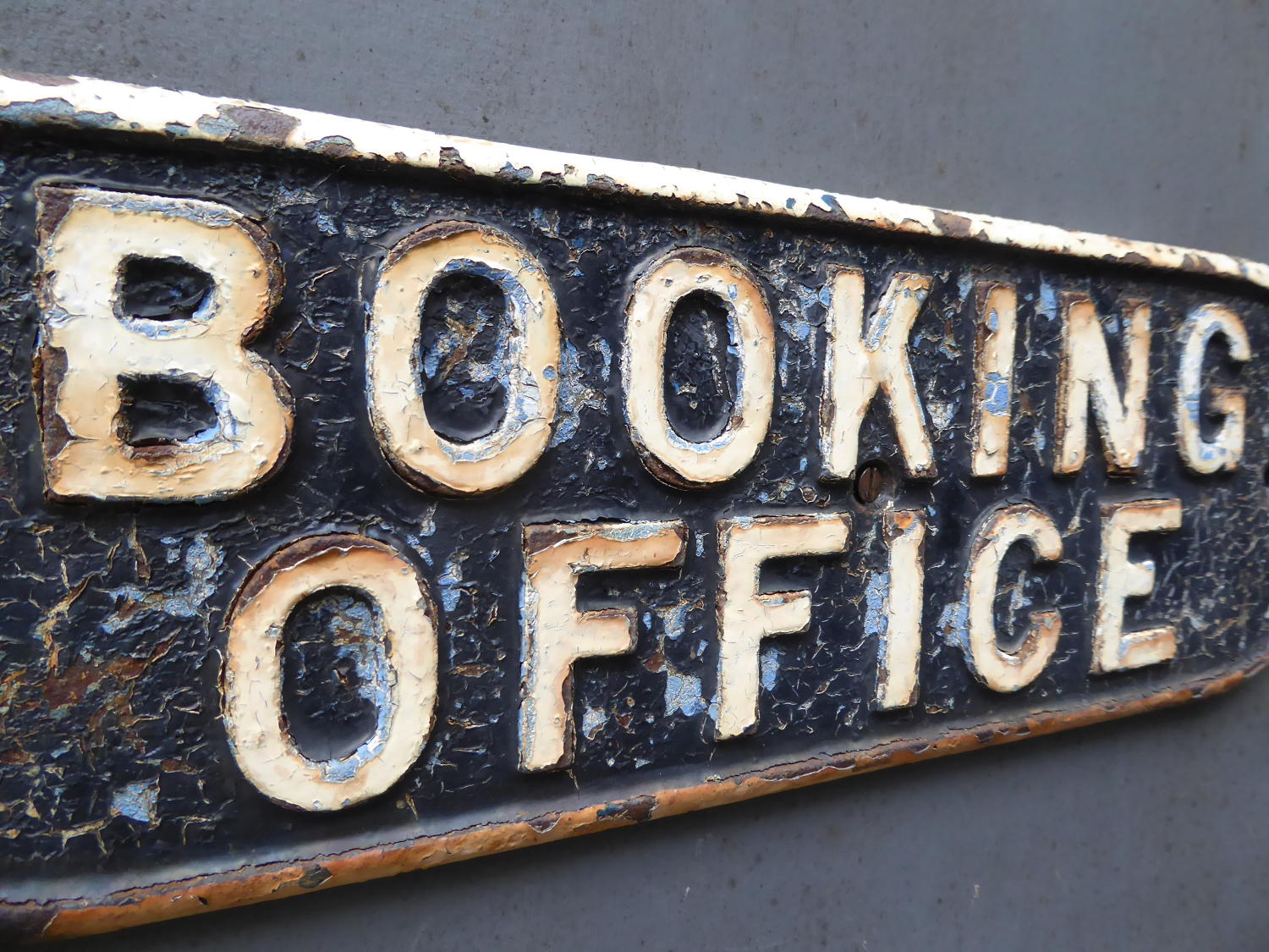 Cast Iron Railway Booking Office Sign ~ LNER