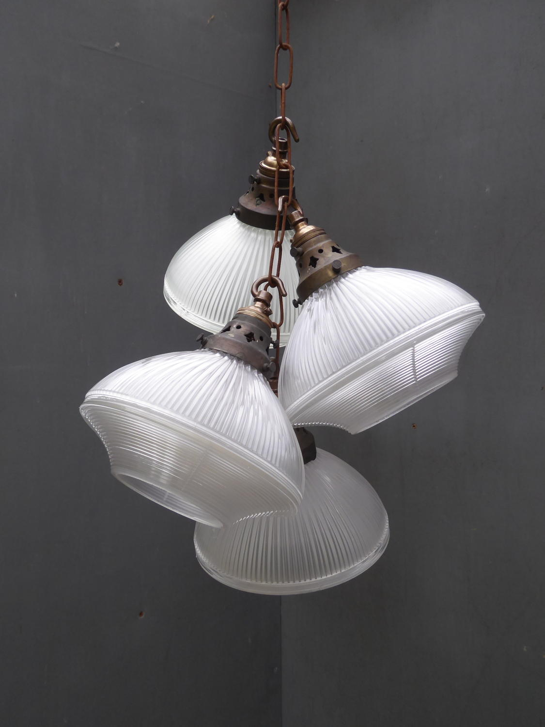 Small Holophane Pendant Lights