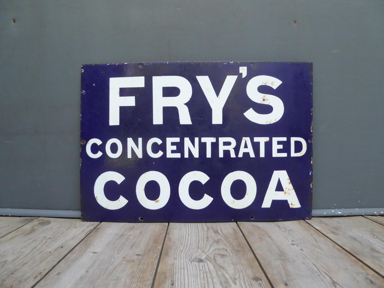 Frys Cocoa Enamel Sign