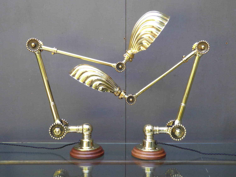 Dugdills Brass 'Daisy' Lamps