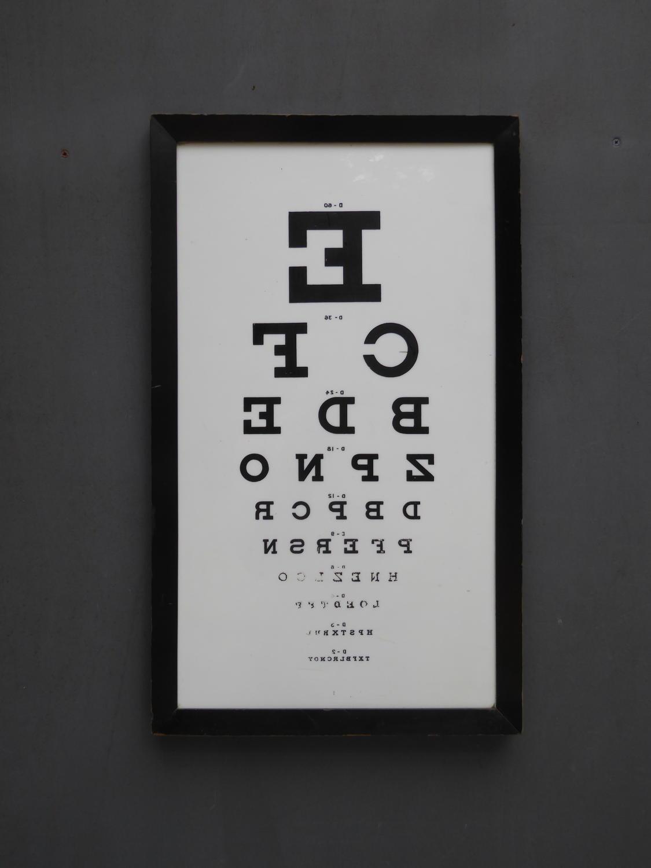Milk Glass Opticians Sight Test