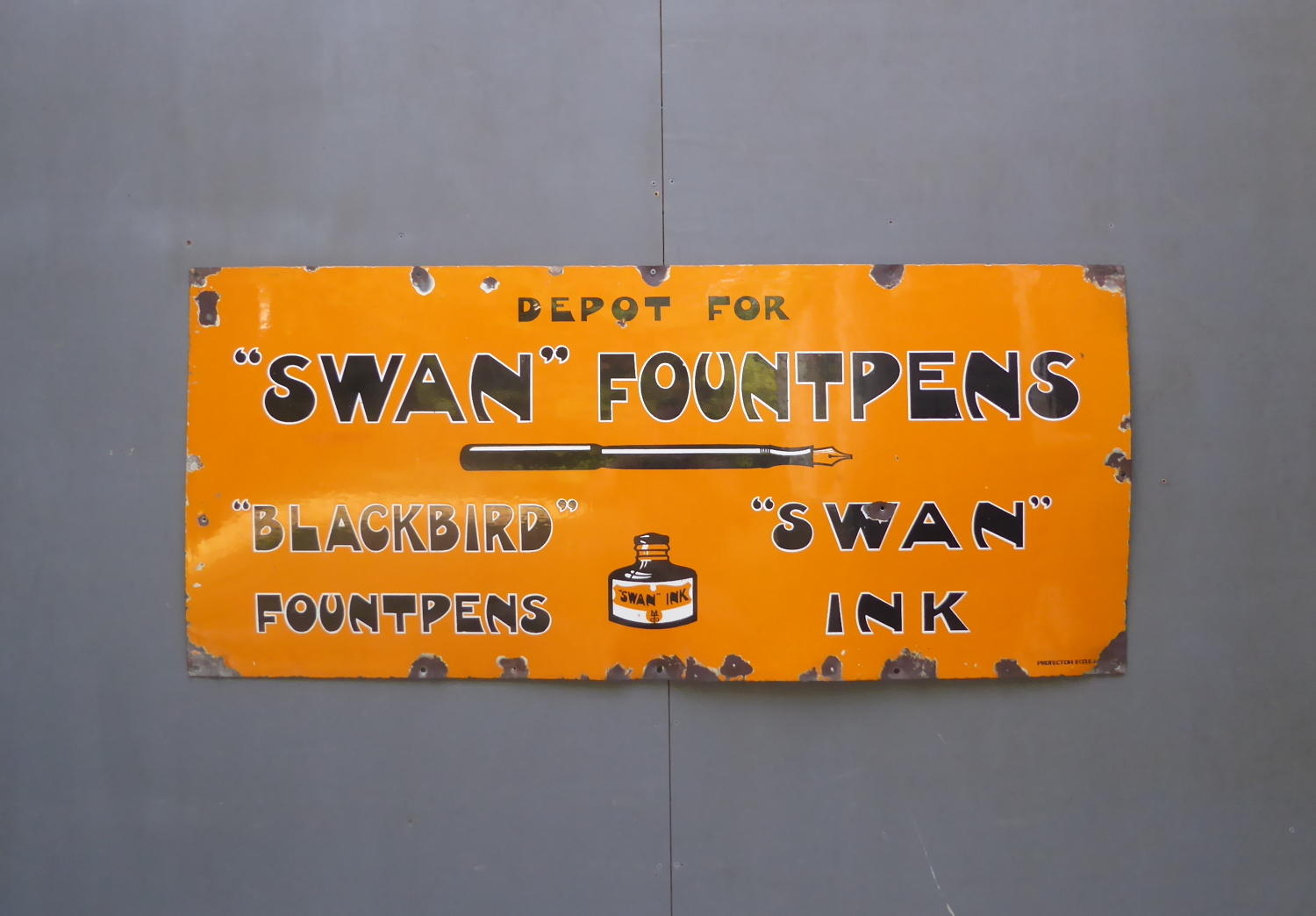 Swan Fountpens & Inks Enamel Sign