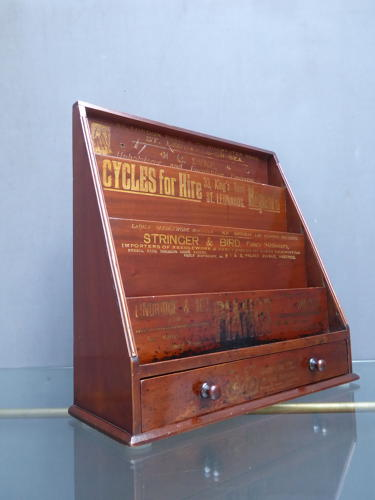 Mahogany Advertising Display
