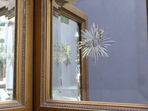 Pair Of Cut Glass Mirrors