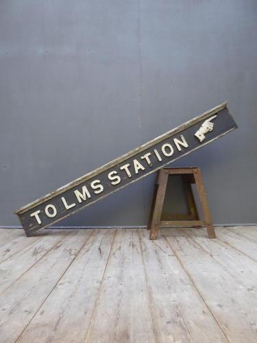 LMS Timber Station Sign