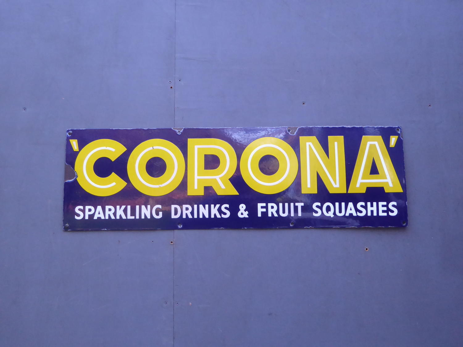 Corona Enamel Sign