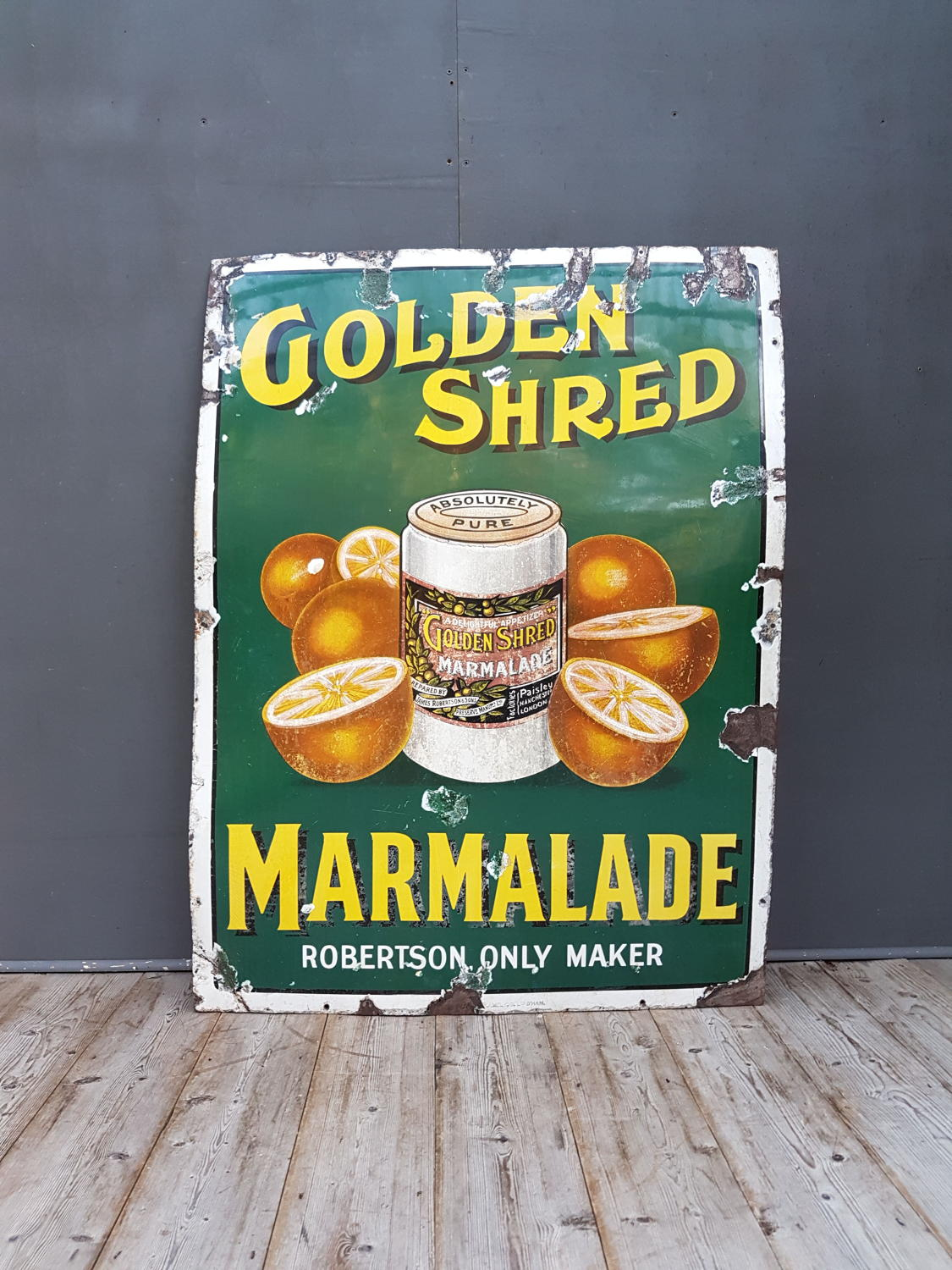 Robertson's Marmalade Pictorial Enamel Sign