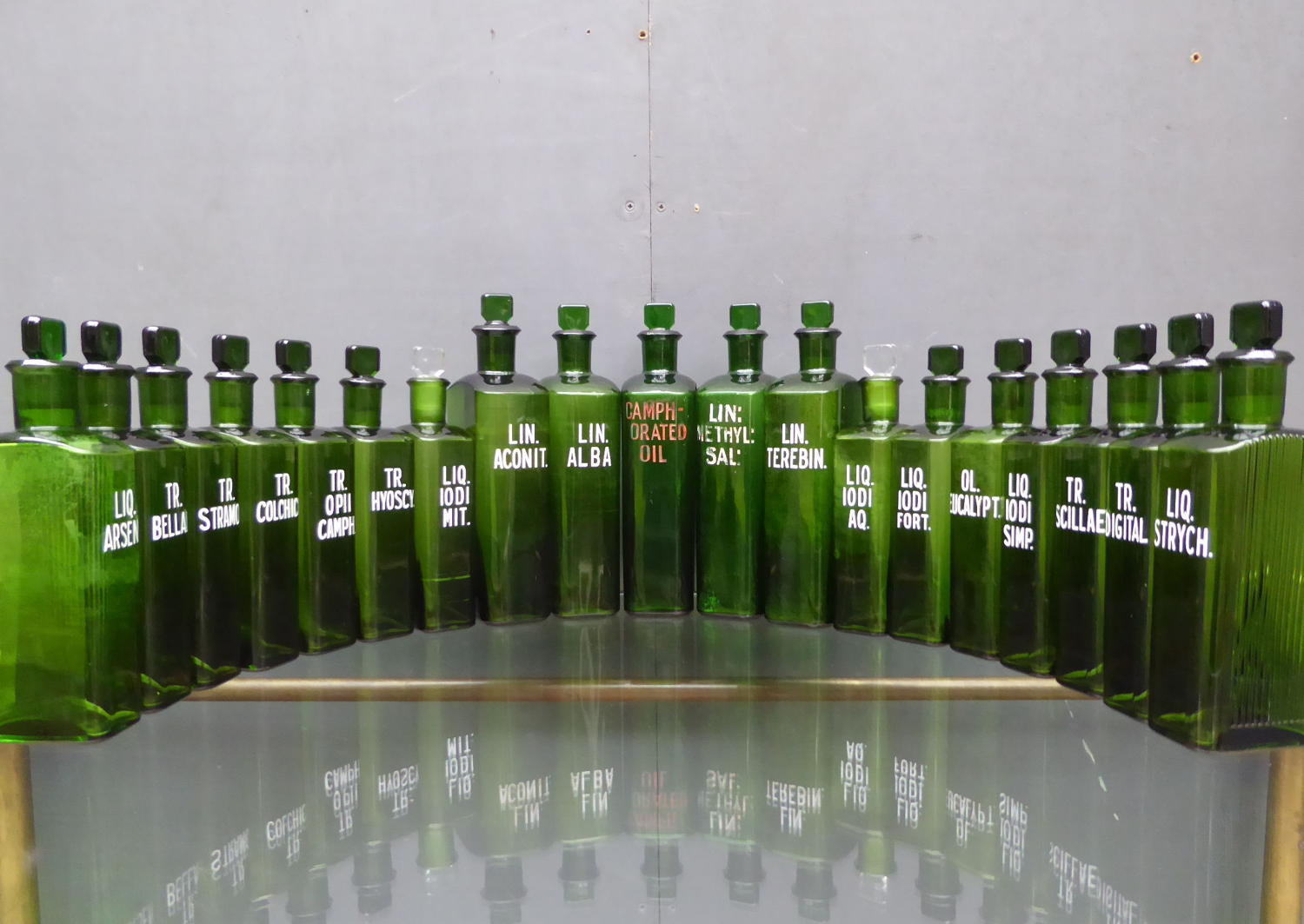 Emerald Green Apothecary Poison Bottles