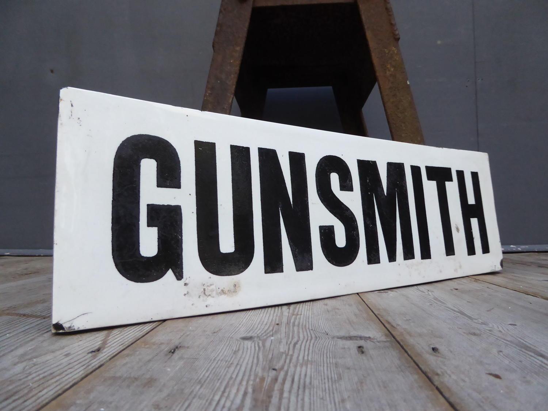 Victorian Gunsmith Sign