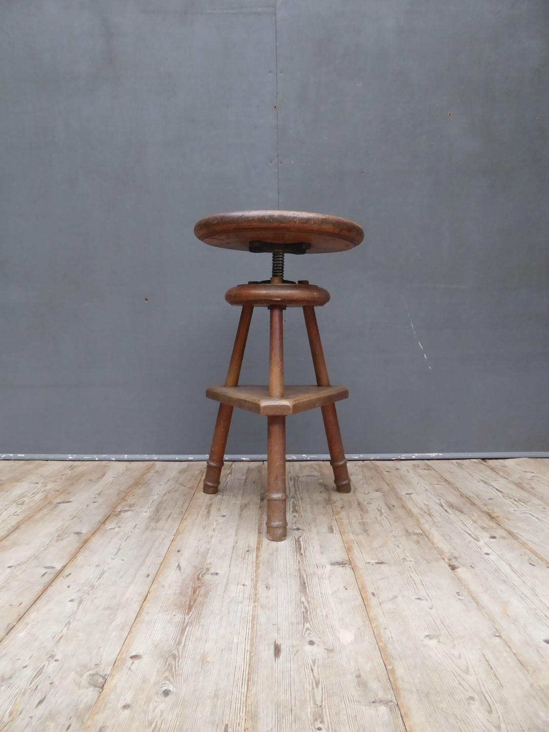 Oak Work Stool