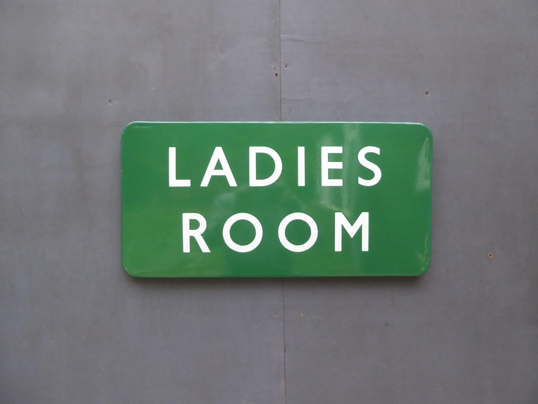 Enamel 'Ladies Room' Railway Sign
