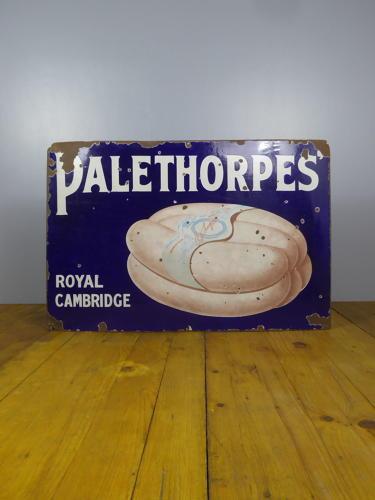 Palethorpes Sausages Enamel Sign
