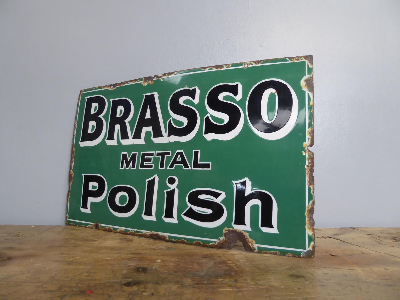 Early Brasso Enamel Sign