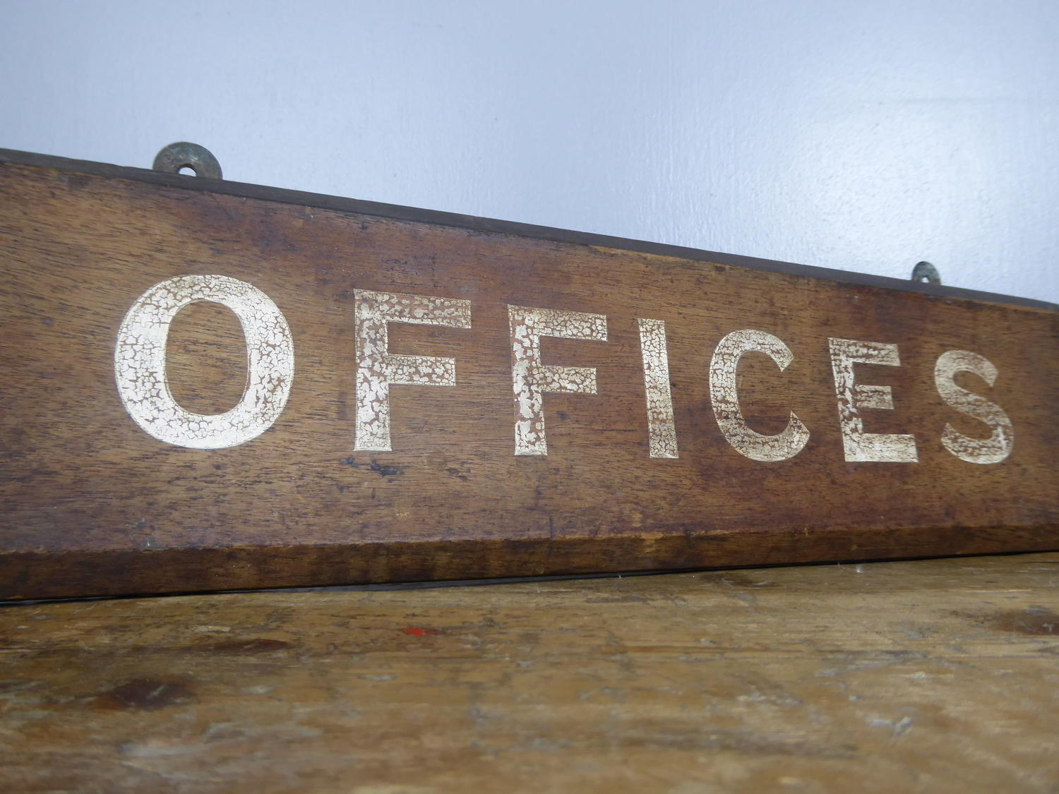 Painted Timber Office Sign