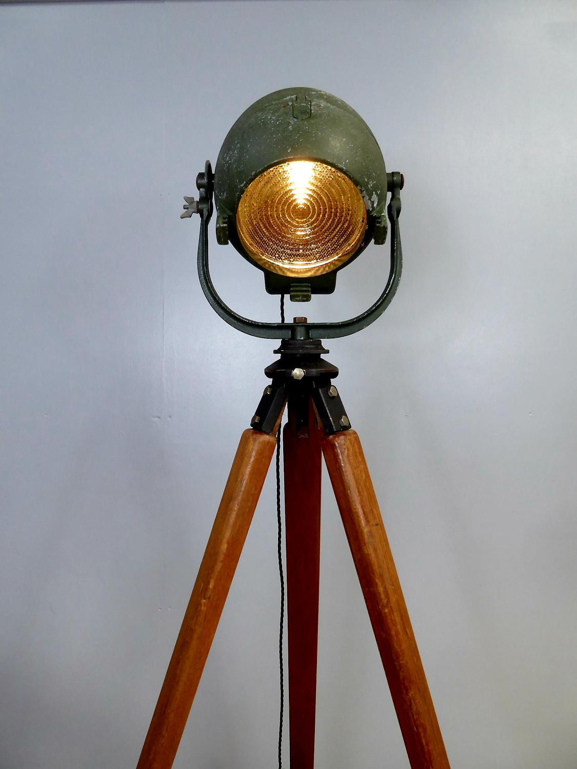 Strand Theatre Lamp On Tripod
