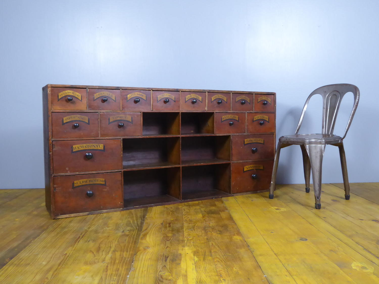 Large Bank Of Apothecary Drawers