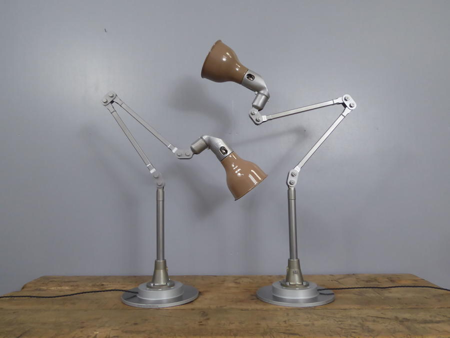 Taupe Mek Elek Machinist Lamps