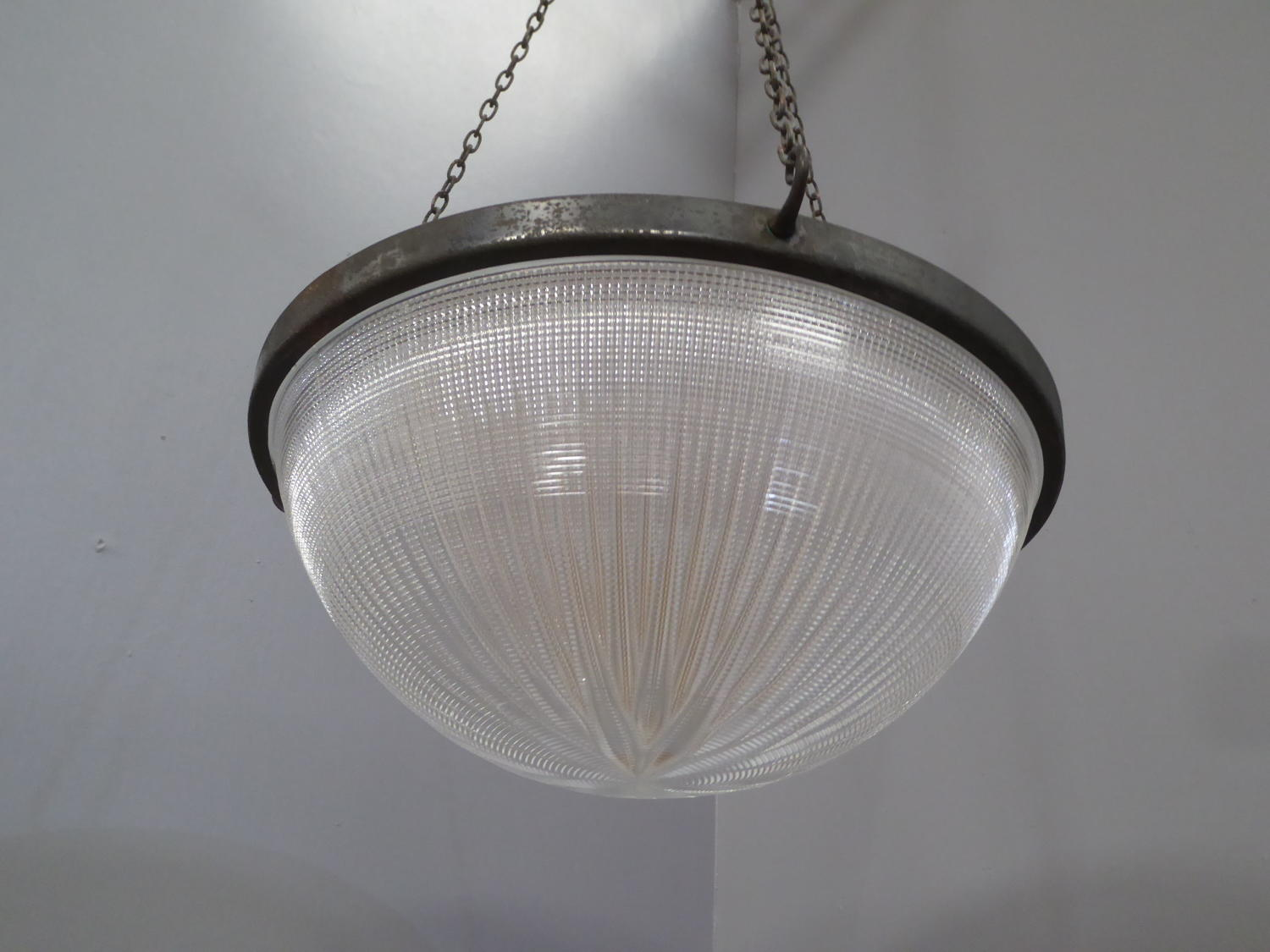 Huge Holophane Bowl Light