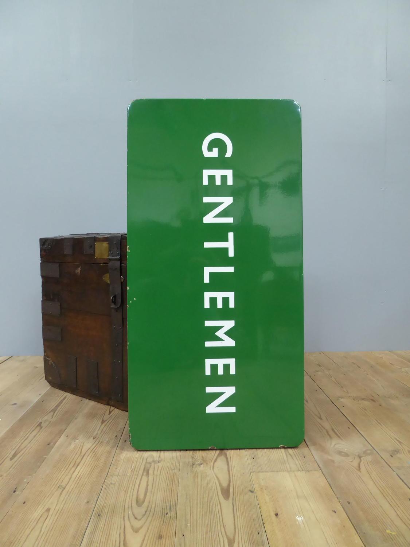 Gentlemen ~ British Railways Enamel Sign