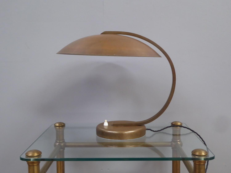 Brass Bauhaus Desk Lamp by Hillebrand