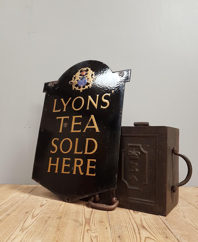 Enamel Sign ~ Lyons Tea Sold Here