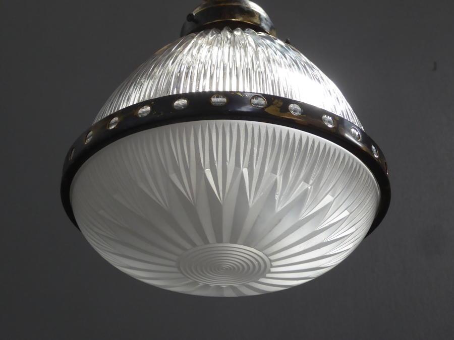 Small Holophane Pendant Light