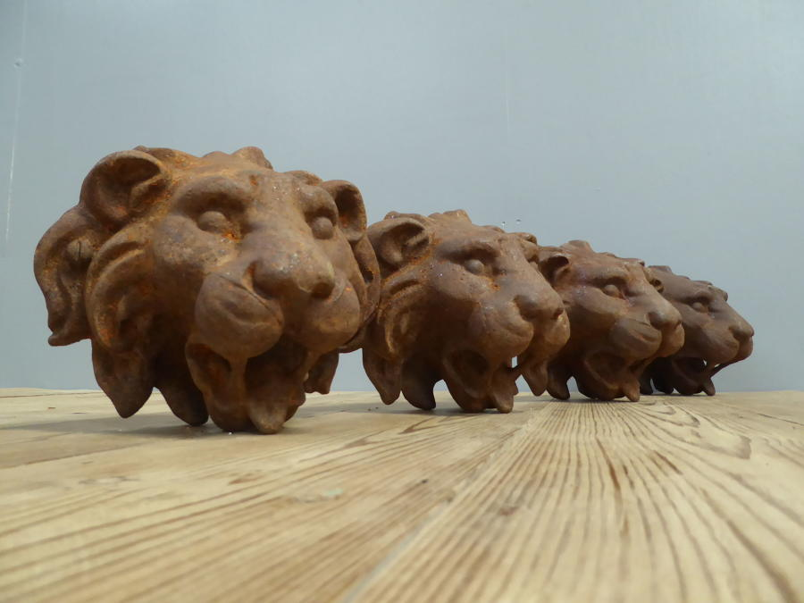 Reclaimed Cast Iron Lions