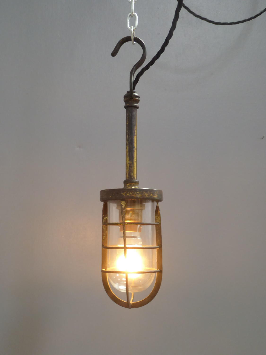 Gilt Brass Automotive Inspection Lamp