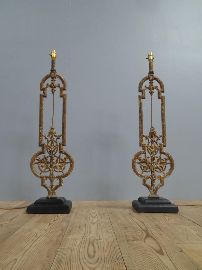 Cast Iron Balustrade Lamps