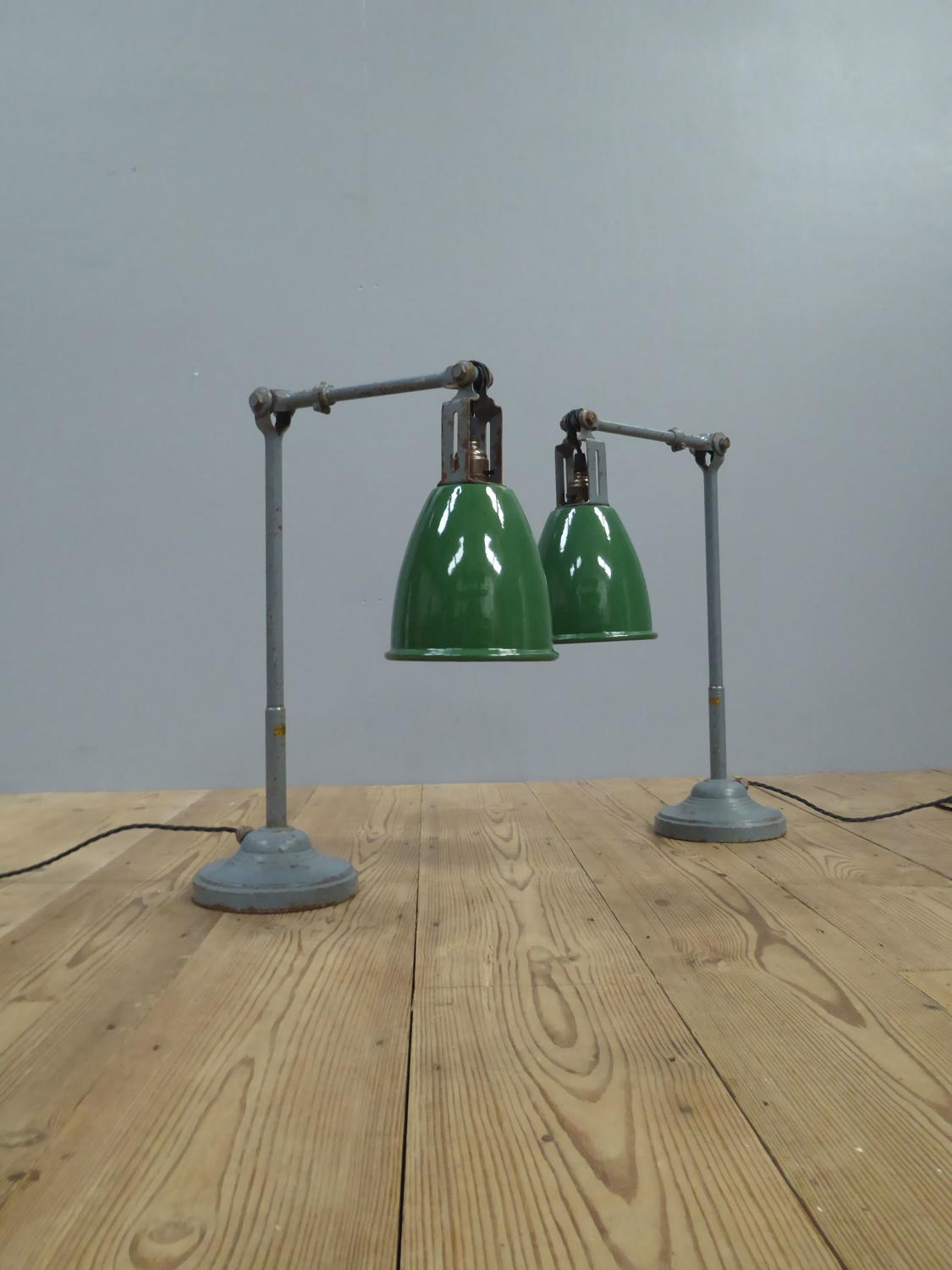 Pair Of Dugdills RTM Work Lamps