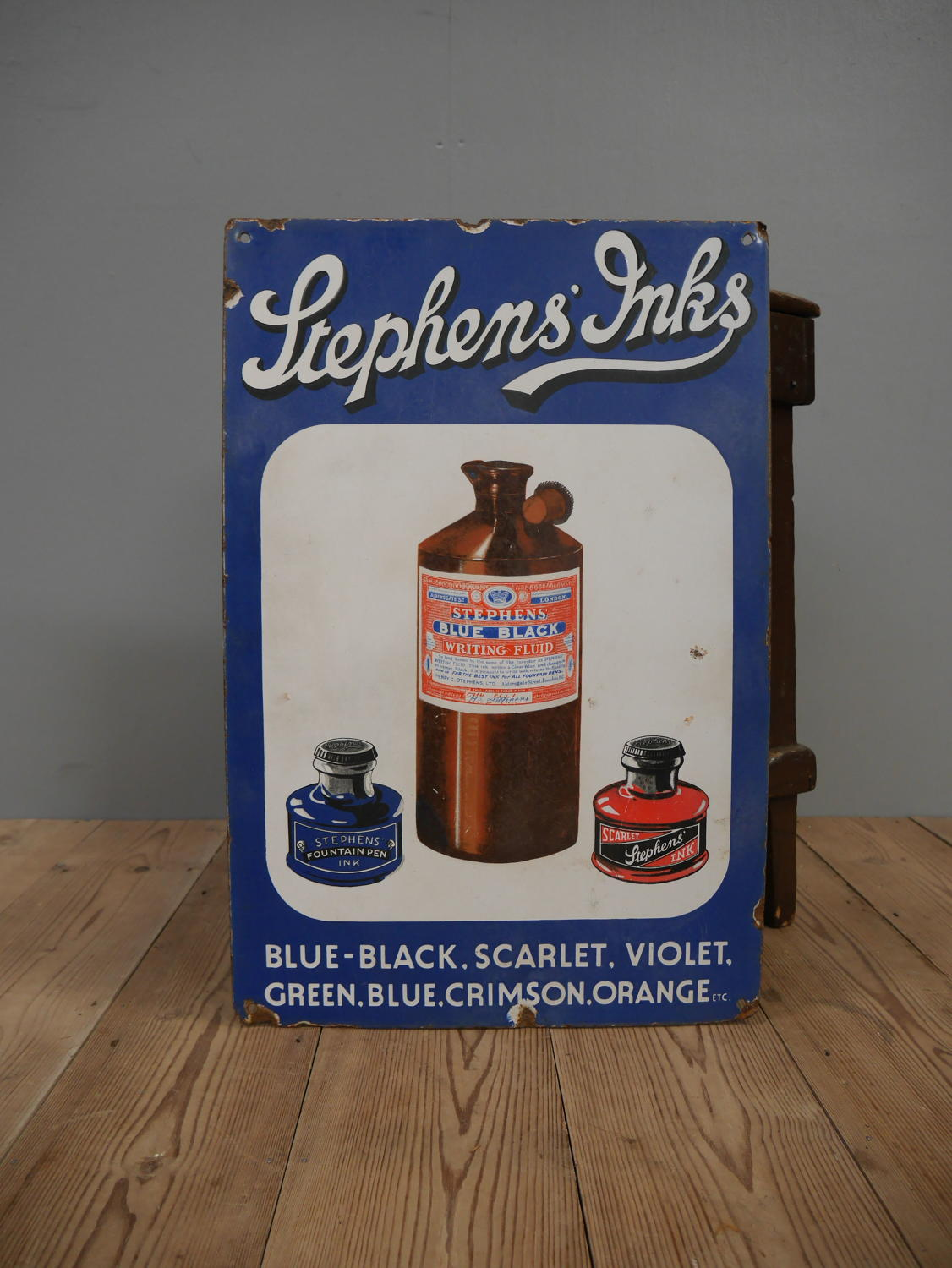 Stephen's Inks Enamel Sign