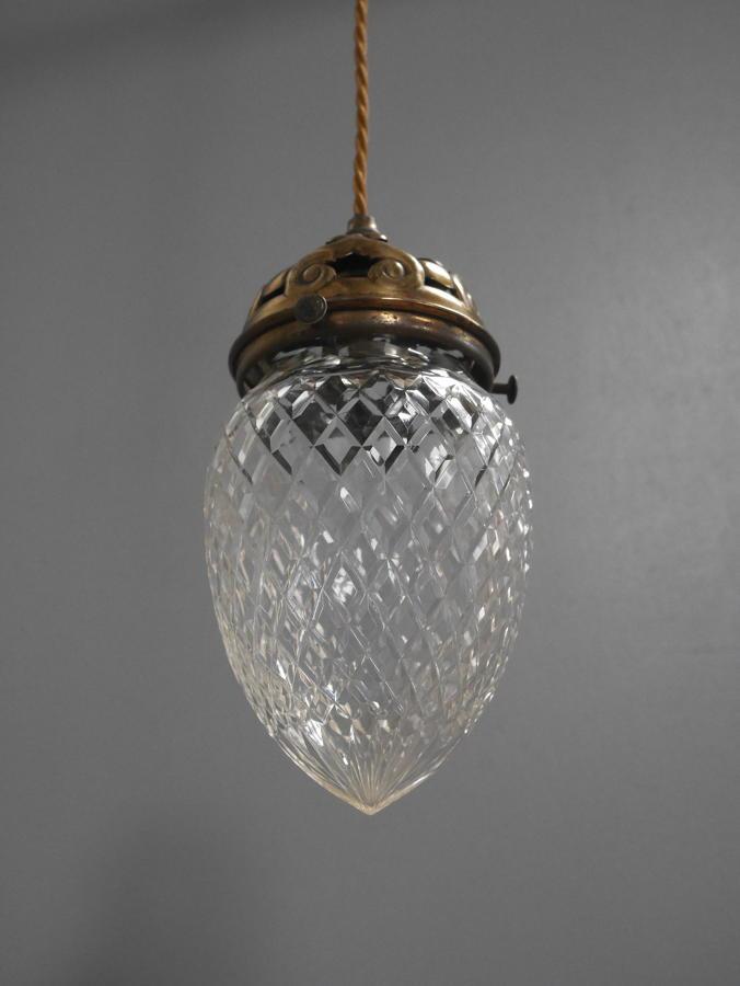 Victorian Cut Glass Pendant Light