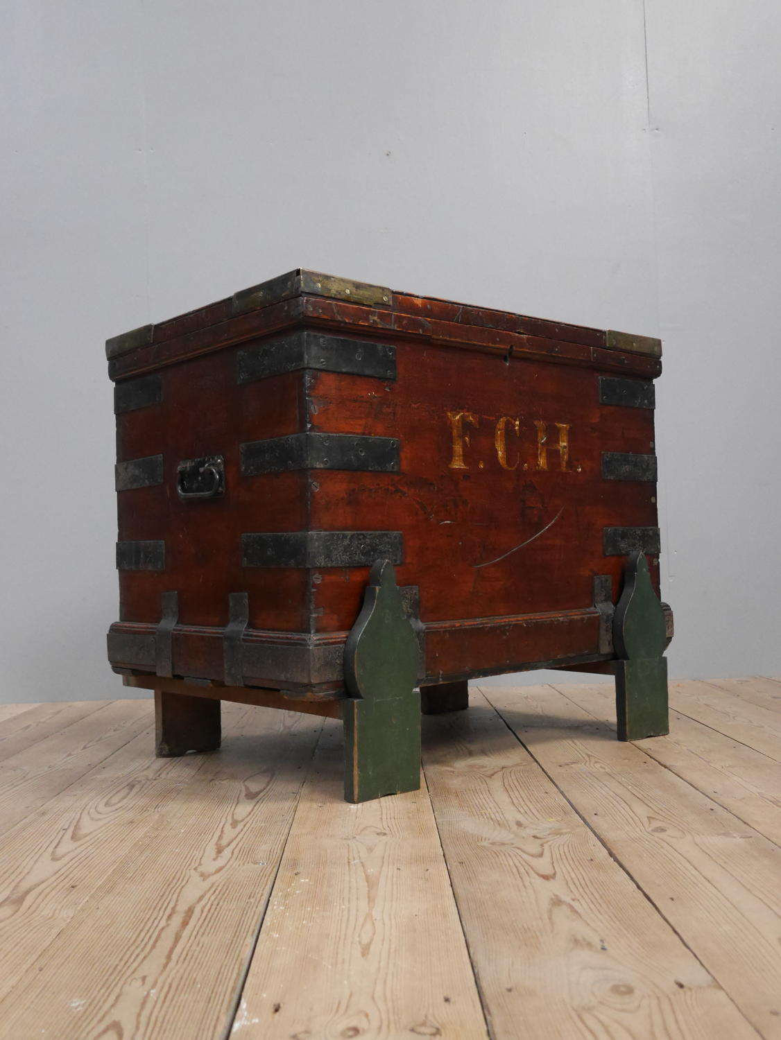 Colonial Camphor Wood Campaign Trunk