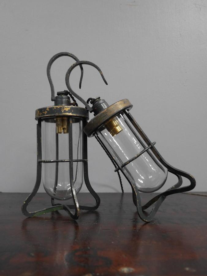 Oversized Brass Inspection Lamps